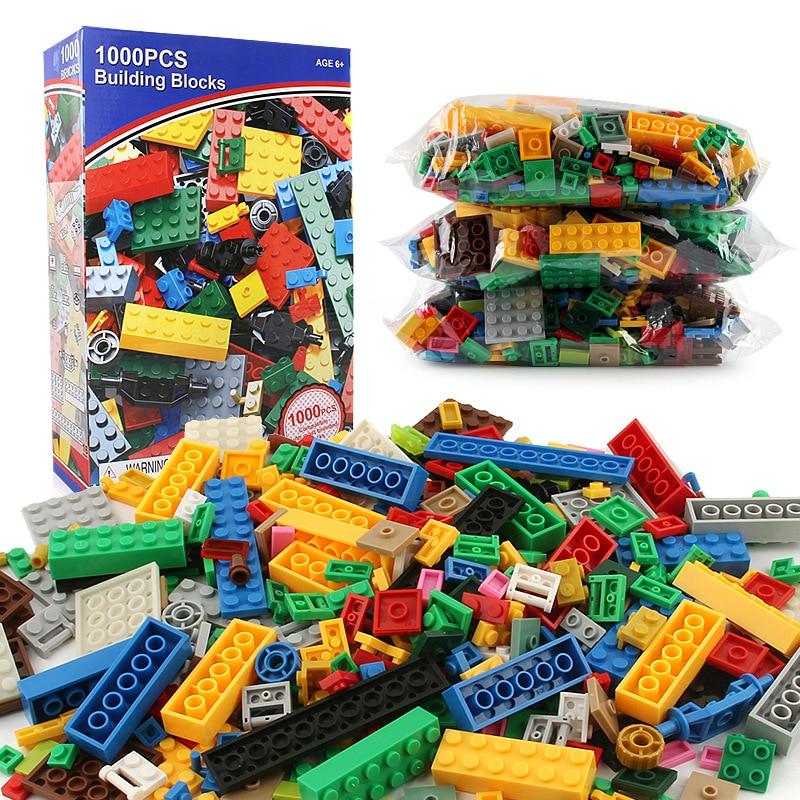 1000 Pieces Building Blocks DIY Legoings City Creative Bricks Toy Model Educational Bulk Toys for Children Birthday Gift 550pcs smart stick building blocks safe plastic toy assembled educational toys for children best birthday gift