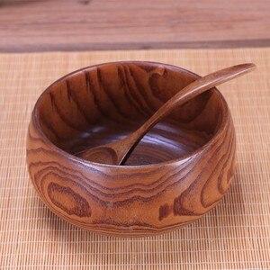 Image 1 - Sáng tạo Bằng Gỗ Tô Salad Ramen Canh Bộ Đồ Ăn Bát Ăn Trẻ Em Hộp Đựng Thực Phẩm Ăn Liền Cho Nhà Bếp Cơm Tigelas Handmade