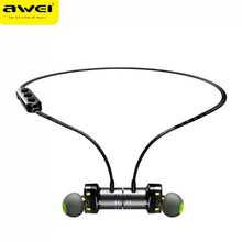 AWEI Newest X670BL Bluetooth Earphone Dual Driver Wireless earphones Bluetooth Earphones with Mic Super Bass Earbuds Stero sound awei g20bl magnetic bluetooth earphone cnc metal dual driver earphones wireless sport running bluetooth4 2 earphone