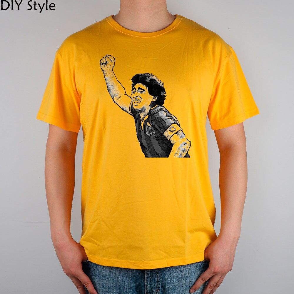 76e2c43657f97 JN KAZANMA ARJANTIN MARADONA kısa kollu Tişört Üst Likra Pamuk Erkekler T  gömlek Yeni DIY Stil