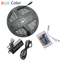 1 Kit No Waterproof DC 24V LED Strip 5050 Flexible LED Light RGB Warm White White