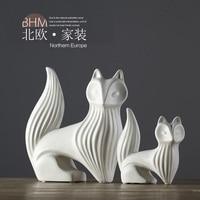 Nordic Style Jewelry Home Furnishing Modern Animal Ornaments Fox Ceramic Ornaments Jewelry Nordic Model Room