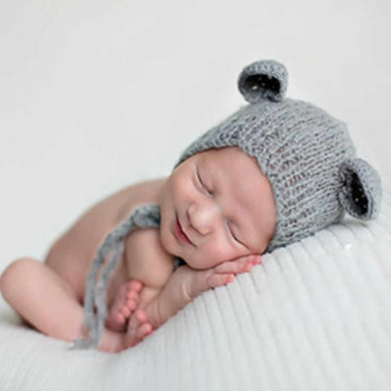 Baby Mohair knitting Bonnet Hat Newborn Photo Photography Prop Cap Outfit  I2