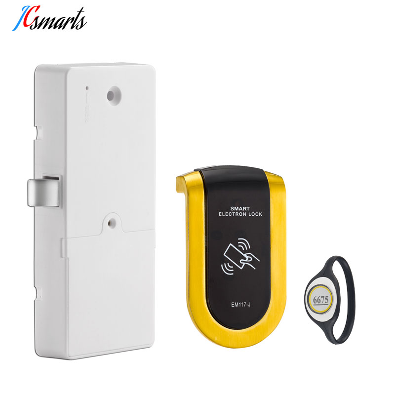 Zinc alloy cabinet locker electric lock with wristband ID key card for swimming pool