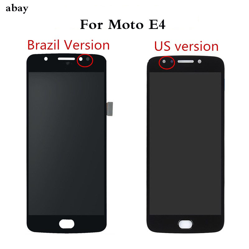 For Motorola Moto E4 <font><b>XT1762</b></font> XT1772 <font><b>Lcd</b></font> Display Touch Screen Digitizer Assembly 5.0 inch Panel Mobile <font><b>Lcd</b></font> Brazil/US Version image