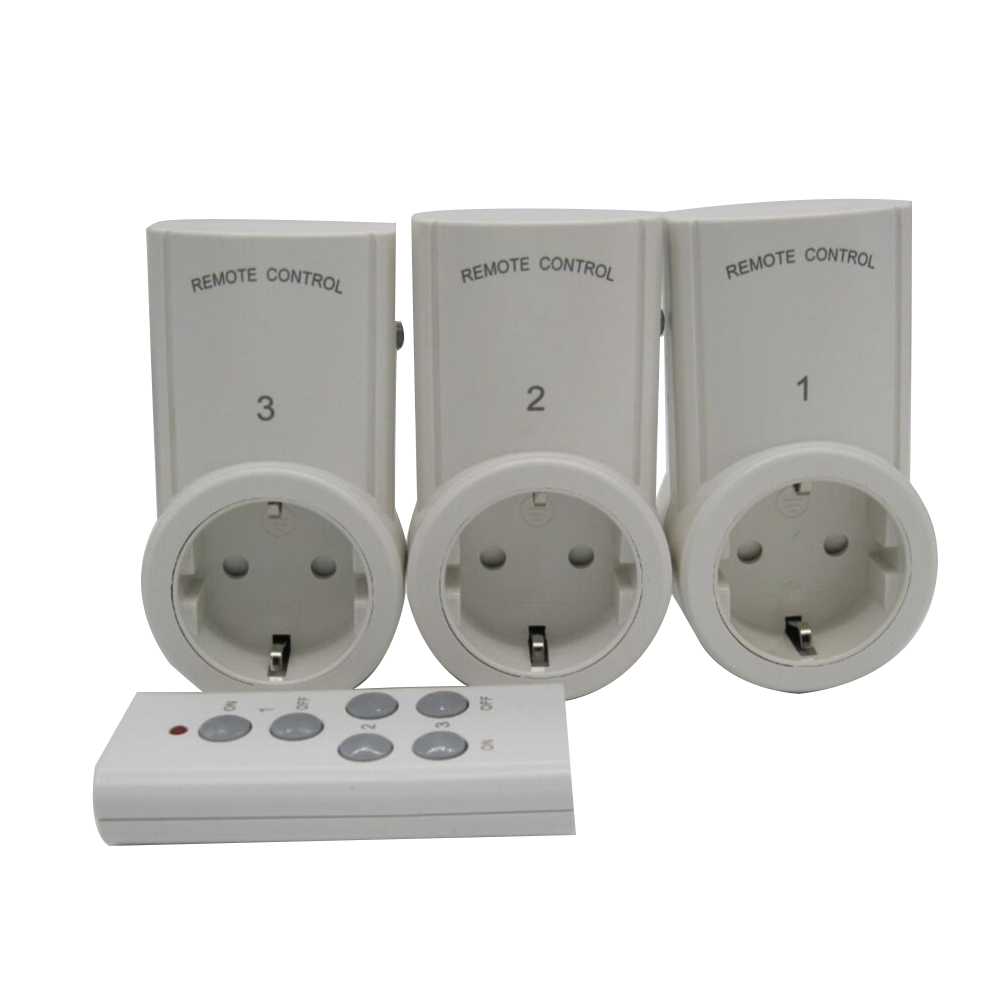 High Quality EU 3 Pack Wireless Remote Control Power Outlet Light ...