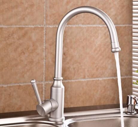 fashion High quality total aluminum no lead safe drinking kitchen sink faucet hot and cold single