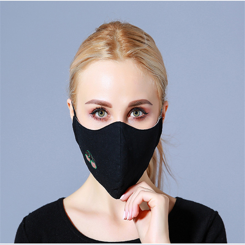 10pcs/Bags Autumn And Winter Fashion Masks New Cotton Dust Anti-haze Masks Korean Breathable Three-dimensional Warmth