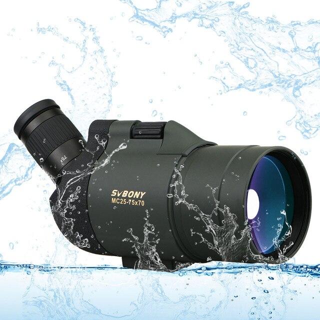 SVBONY SV41 25-75x70 Spotting Scope Telescope Refraction Monocular Binoculars Hunting Optics BAK4 Prism Long Range Waterproof 3