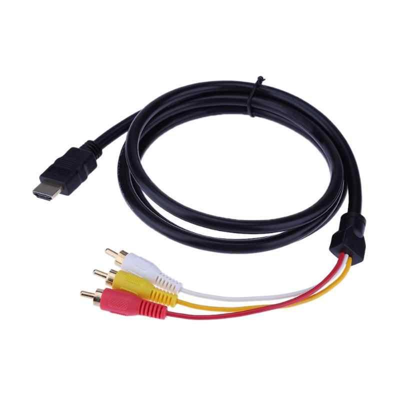 1.5M HD HDMI الصوت كابل إلى 3RCA كابل AV مطلية بالذهب الصوت كابل للتلفزيون مجموعة مربع ل PC العارض اللوحي أجهزة الكمبيوتر
