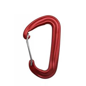 High quality black metal clip hook spring 12KN aluminum locking climbing Hammock carabiner.