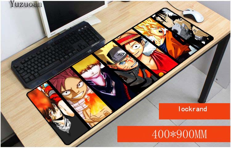 Yuzuoan One Piece Dragon Ball Z 900x400x3mm Notbook Computer Japan Anime Mousepad Big Gaming Laptop Table Overlock Mouse Pad-in Mouse Pads from Computer & Office