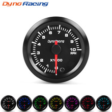 Dynoracing 2 52mm 7 Colors LED Car Auto Tachometer 0-10000 RPM Gauge with High Speed Stepper Motor meter Meter BX101486