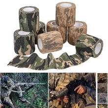 8 Rolls Camouflage Tape Protective Military Telescopic Camo Tape 5CM x 4.5M Non-Woven Self-Adhesive Wrap Fabric Stealth Tape