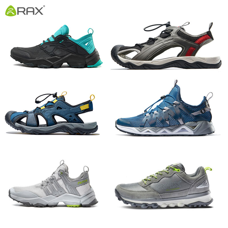 Rax Men Hiking Shoes Outdoor Sports Sneakers Breathable Trekking Shoes Sandals Mountain Boots Sneakers Walking Hiking Boots Men rax 2017 breathable hiking shoes men sport trekking shoes men outdoor sneakers mountain walking sneakers women zapatos