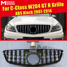 For MercedesMB W204 Sport grille grill GT R style ABS Black without sign C class C180 C200 C250 grills NOT FOR C63 AMG 2007-14