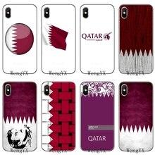 Флаг Катара Национальный флаг Тонкий Силиконовый ТПУ мягкий чехол для телефона Apple iPhone 4 4s 5 5S 5c SE 6 6s 7 8 plus X XR XS Max