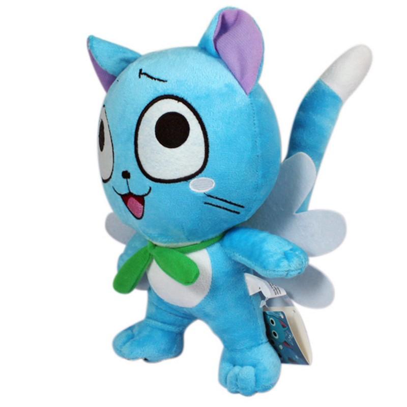 Anime Fairy Tail Figures 1230cm Happy Blue Cat Plush Toys Super Kawaii Neko Soft Dolls Gift for Baby Kids Friends  (8)