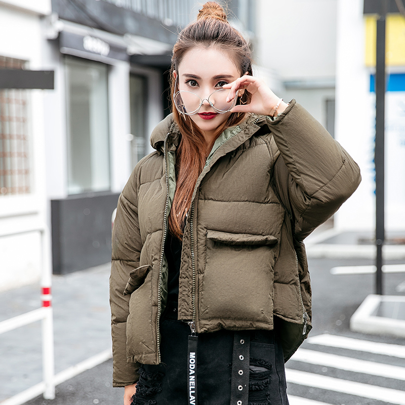 OLIVARF Women Short Winter Jackets and Coats Hooded Cotton Padded Parkas Female Outwear Girls Students Wadded Overcoat 2017 New 2017 new winter coats women winter short parkas female autumn cotton padded jackets wadded outwear abrigos mujer invierno w1492