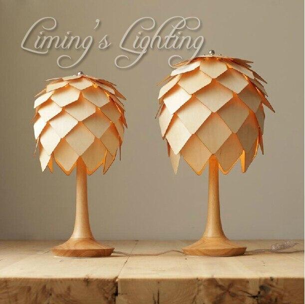 Denmark Antique Ph Artichoke Pinecone Oak Wooden Pineal