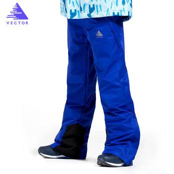 Spodnie narciarskie dla dzieci marki chłopcy dziewczęta 2019 nowe sporty outdoorowe wiatroszczelne wodoodporne ciepłe zimowe spodnie snowboardowe dla dzieci tanie i dobre opinie VECTOR POLIESTER COTTON na zamek błyskawiczny 70017 Pełna długość Skiing Dobrze pasuje do rozmiaru wybierz swój normalny rozmiar