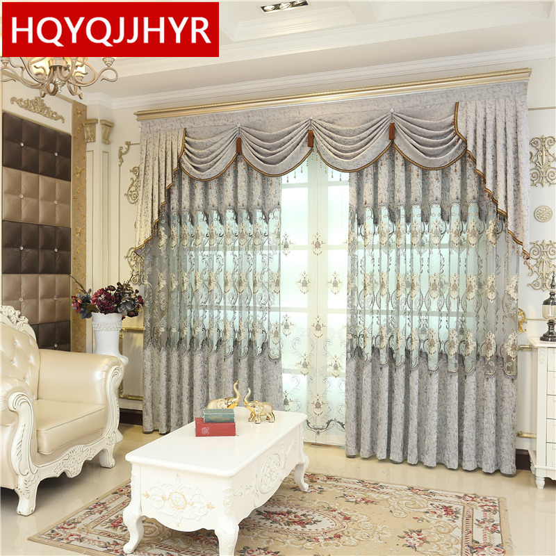 High End Decorative Living Room European Style Luxury: Luxury European Embroidery Curtains For Living Room