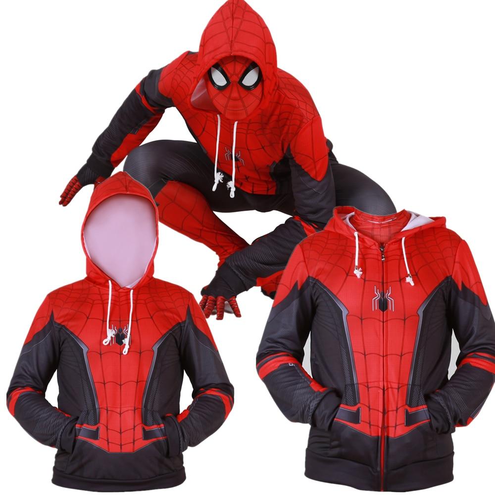 Spider-Man Far From Home Clothing Zipper Sweatshirt Hoodie Coat Christmas Jacket