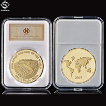2007 China The Great Wall Mascot Token Gold Coin New Seven Wonders of The World Souvenir Gifts Coin