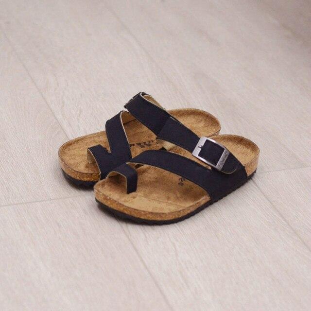 1ef6a2e0e9a0d Children Slippers Kids Cork Beach Shoes Boys Slippers Girls Flip Flops  Parent-child Sandals Kids Mum Shoes Home Slippers 22-39