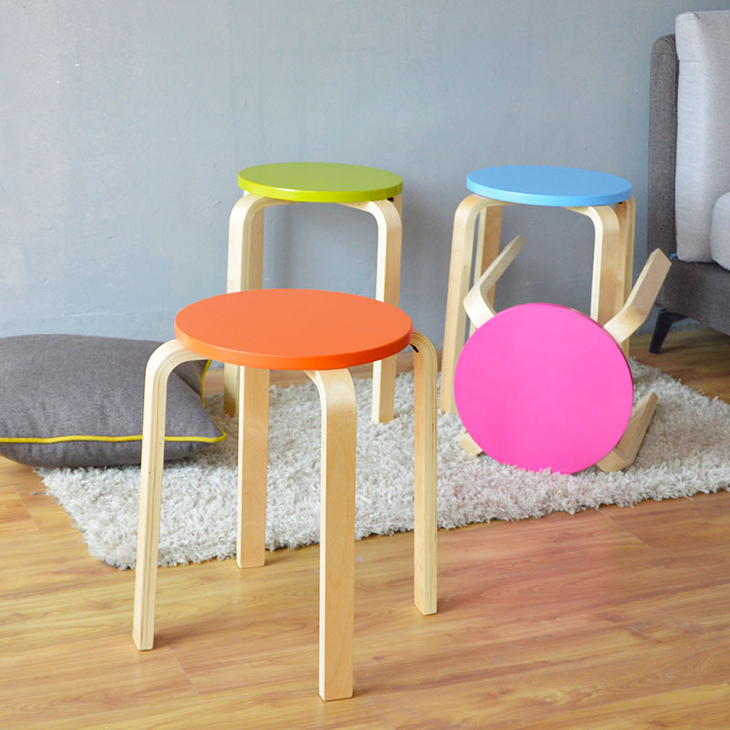 Modern Simple Round Stool Stacked Household Multi-purpose Wooden Dining Stool Stable Bedroom Dressing Seat Change Shoes StoolModern Simple Round Stool Stacked Household Multi-purpose Wooden Dining Stool Stable Bedroom Dressing Seat Change Shoes Stool