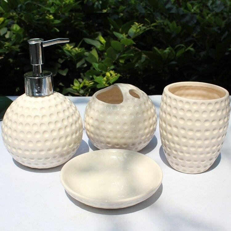 bella pallina da golf forniture bagno in ceramica bagno moda set di 4 pezzi inaugurazione della