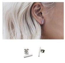 9e6879955823 Nueva simple palo Stud pendientes para las mujeres pendientes mujer  orecchini