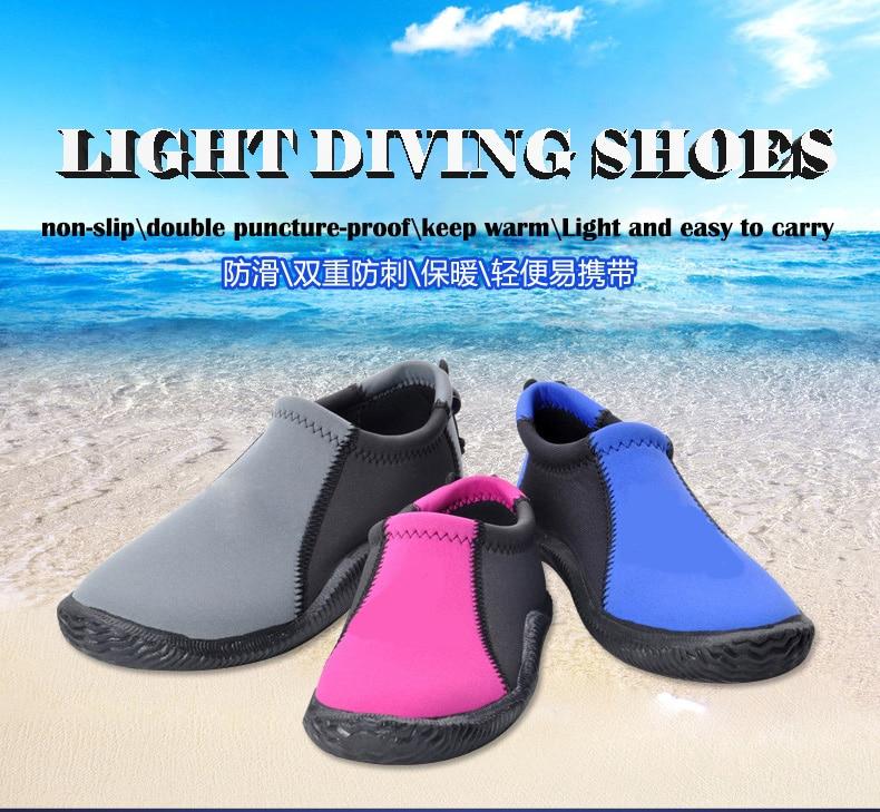 Néoprène 3mm chaussures adultes chaussures de plongée antidérapantes chaussures de plage en caoutchouc pour la natation plongée en apnée sports nautiques