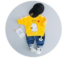 32ec060e7 ZWXLHH 2019 primavera nuevo bebé niños niñas trajes de ropa para niños de dibujos  animados perro T camisa + Pantalones 2 piezas .