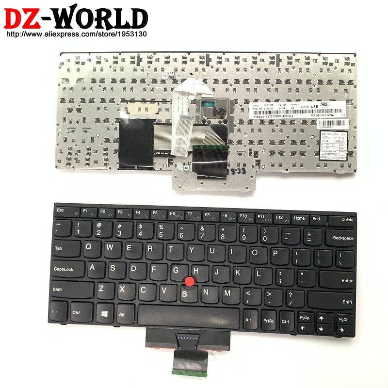 Original US English  Keyboard For Lenovo Thinkpad X121e X130e X131e X140e Teclado 04Y0342 0C01737 04Y0379-in Replacement Keyboards from Computer & Office on