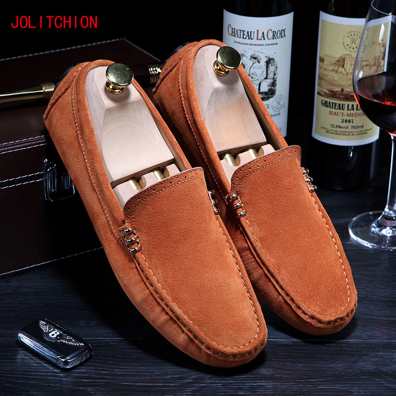 Colors Men Casual Loafers Moccasins Men Shoes Casual High Quality Suede Leather Breathable Slip On Boats Shoe Chaussures Hommes