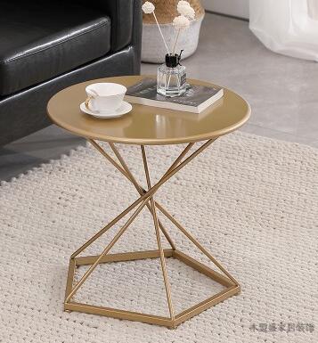 Side Nordic small coffee table modern minimalist living room mini sofa round table tea table corner table side bed table. end table