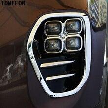TOMEFON Accessories ABS Chrome Front Fog Light Cover Trim Bezel Garnish Lamp Foglight Bumper For KIA