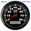 Waterproof Car Boat Tachometer Gauge RPM Tachometer With Hour Meter 6000  4000  8000 RPM Gauge for Audi Peugeot BMW Ford Focus review
