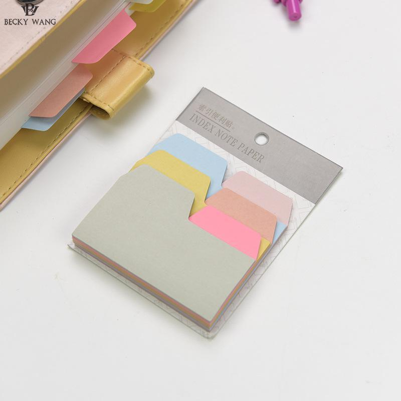 1 Set Memo Pads Sticky Notes Kawaii Cute Colorful Paper Post It iary Scrapbooking Stickers Office School stationery Bookmark