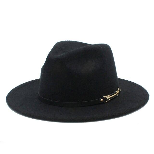 f23712eda3d Fashion Men s Women s Wool Felt Fedora Hat Gangsters Traditional Godfather  Mafia Caps Size 56-58CM