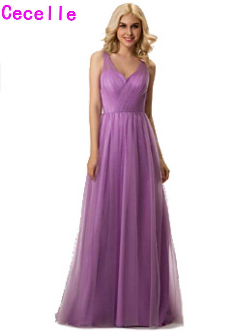 Aliexpress.com : Buy 2017 Real A line Lilac Boho Bridesmaid Dresses ...