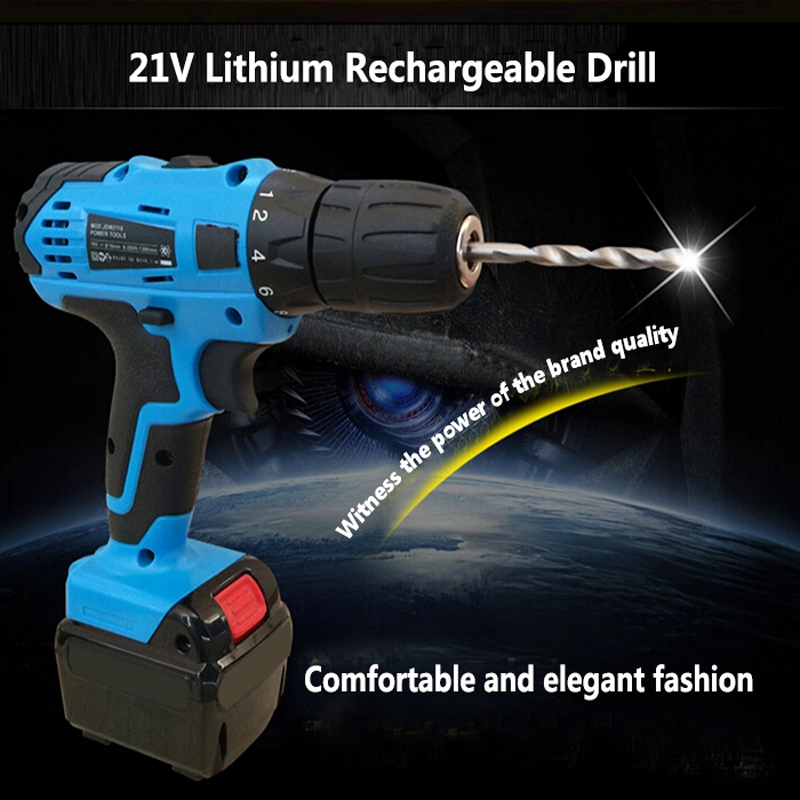 цена на 21V Lithium Battery Rechargeable Hand Drill Cordless and Screwdriver Mini Electric Drill Driver Tools Set Household Hand Tools