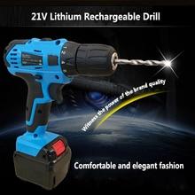 21 V Akumulator litowo Akumulator Akumulatorowa Wiertarka Ręczna i Wkrętak Zestaw Narzędzi Gospodarstwa Domowego Mini Wiertarki Elektrycznej Kierowcy Narzędzia Ręczne