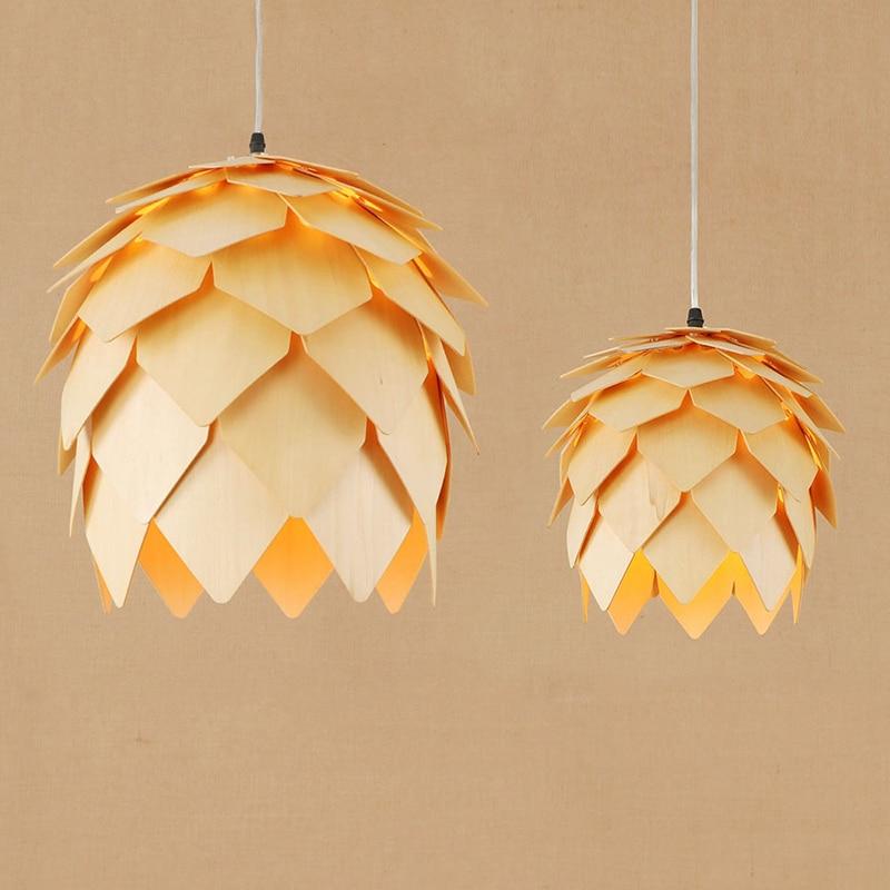Modern wood LED pendant lamp Living room Light Cabinet restaurant/dining room/bar E27 lamp Edison Pendant Light Fixture 220V стоимость
