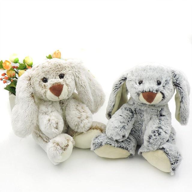 Cute Fluffy Bunny Plush Rabbit Toys Stuffed Animals White Grey