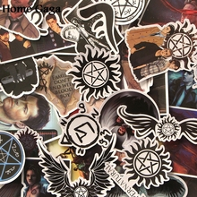Homegaga 37pcs Supernatural SPN kids diy 90s Art print notebook phone laptop bicycle scrapbooking album decals sticker D1771