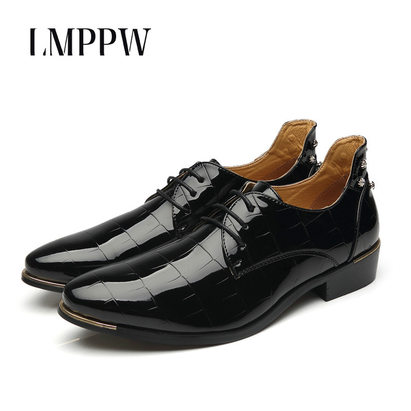 Cooperative Business Man Leather Shoes Mens Cowhide Lace Up Europe Large-size 11 12 Formal Dress Oxfords Casual Office Shoes Price Remains Stable Formal Shoes