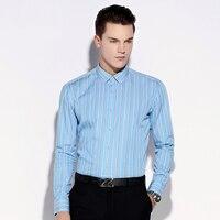 Nieuwe Gekleurde Streep Mannen Shirts Mode Katoen Lange Mouwen Business Casual Formele Shirt Camisa Hombre chemise homme masculina