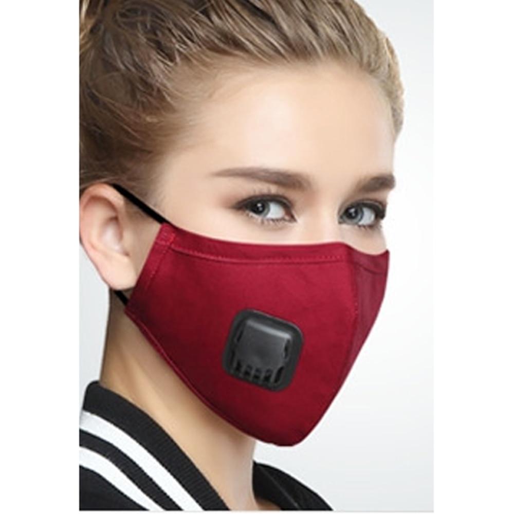 2 Farben Baumwolle Atmungsaktiv Gesundheit Mothproof Staubdicht Anti-staub Unisex Mund-muffel Gesicht Masken Pm2.5 Anti Nebel Und Dunst Maske Professionelles Design Masken